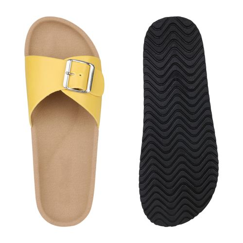 Damen Damen Sandalen Sandalen Pantoletten Gelb Gelb Pantoletten Gelb Pantoletten Damen Sandalen qCwEO6w