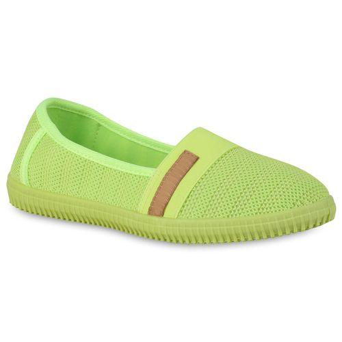 Damen Slippers Slip Ons - Neongelb