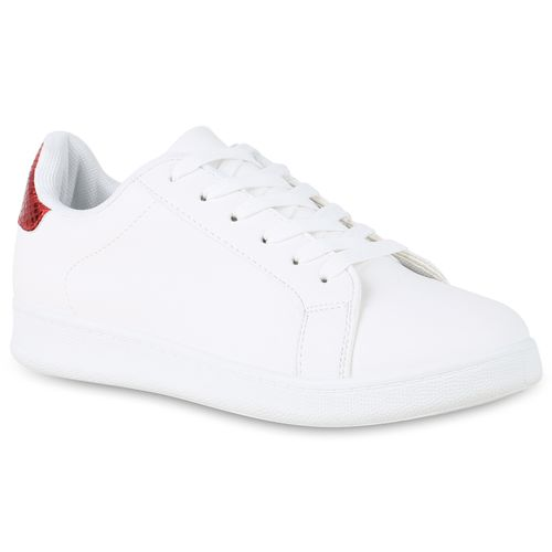 Damen Sneaker low - Weiß Rot