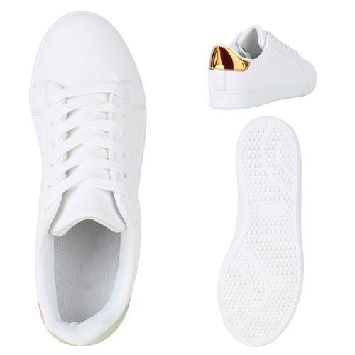 Damen Sneaker low - Weiß Metallic