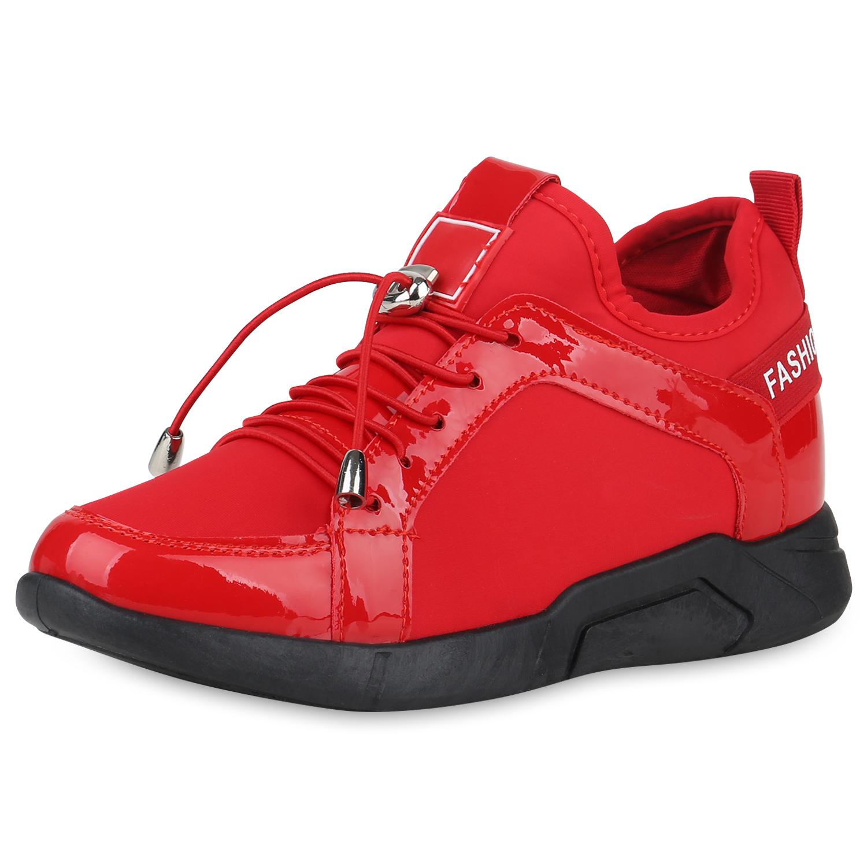 Damen Sneaker Wedges - Rot