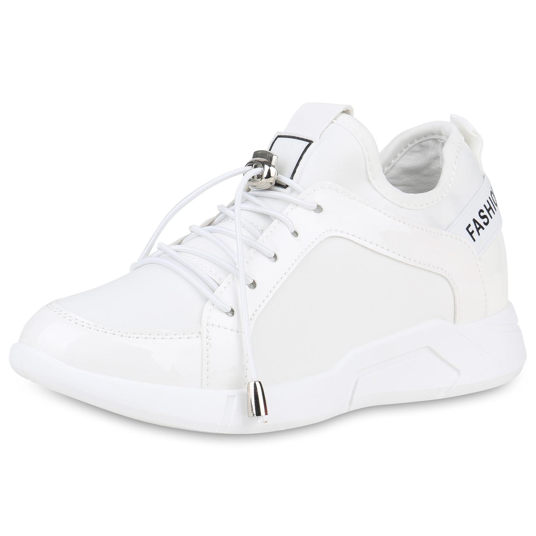 Damen Sneaker Wedges - Weiß