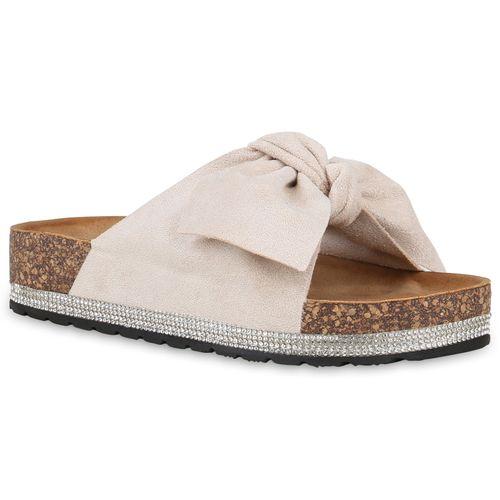 Sandaletten Creme Creme Pantoletten Damen Pantoletten Sandaletten Damen B5XwqKXYIx