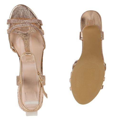 Damen Damen Damen Riemchensandaletten Rose Sandaletten Gold Rose Riemchensandaletten Gold Sandaletten Sandaletten EqYCt