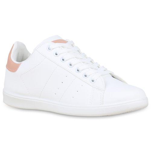 Sneaker Low Rosa Rosa Weiß Damen Damen Low Weiß Sneaker Damen Sneaker Rosa Low Weiß dOXdp