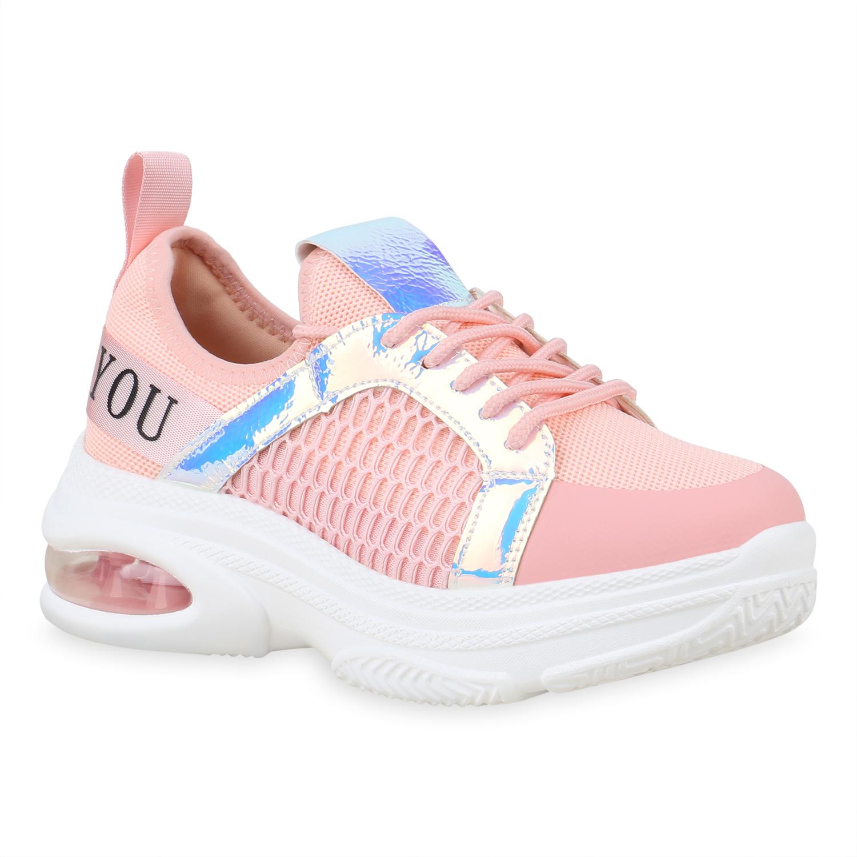 Damen Plateau Metallic Plateau Rosa Damen Sneaker Rosa Sneaker 1JFcKl