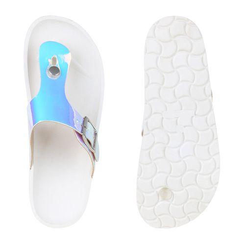 Sandalen Sandalen Damen Damen Sandalen Zehentrenner Zehentrenner Weiß Damen Weiß Zehentrenner 0xwqCwft