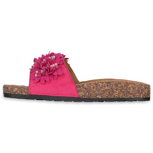 Damen Sandalen Pantoletten - Pink
