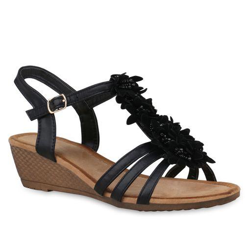 Damen Damen Sandaletten Keilsandaletten Keilsandaletten Damen Sandaletten Keilsandaletten Damen Schwarz Sandaletten Schwarz Schwarz rrwAFq
