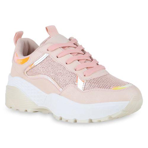 Damen Plateau Sneaker Rosa Plateau Damen q7qC8wS