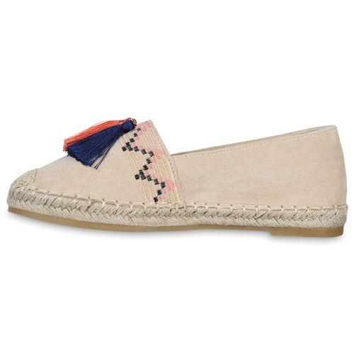 Damen Creme Espadrilles Slippers Damen Slippers IXgx0I