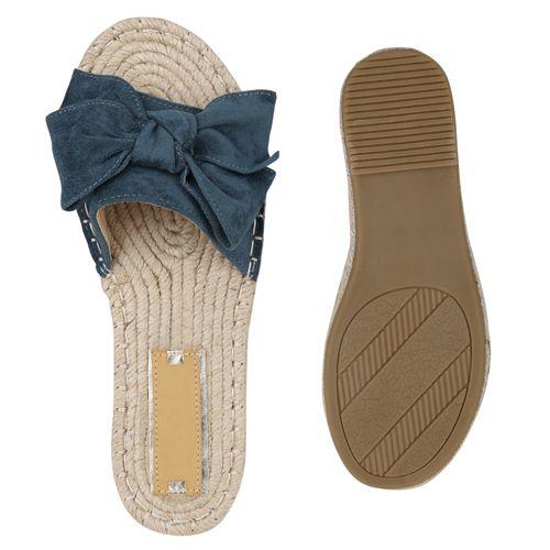 Pantoletten Damen Damen Sandalen Moosgrün Sandalen Fnz8qwf