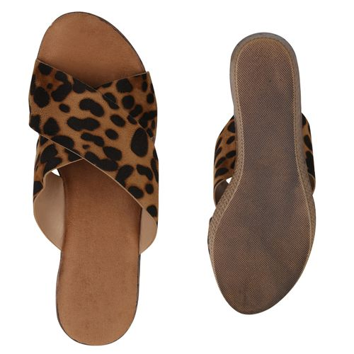 Sandaletten Pantoletten Leo Hellbraun Leo Pantoletten Sandaletten Damen Damen Hellbraun Damen Sandaletten X4gvx7q1