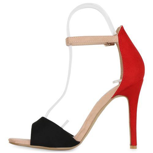 Schwarz Damen Heels High Rot Beige Sandaletten x44P1vt