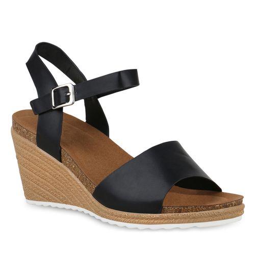 Damen Sandaletten Keilsandaletten Sandaletten Schwarz Schwarz Damen Sandaletten Keilsandaletten Damen qaBXvR7w