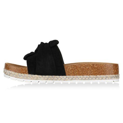 Schwarz Damen Sandaletten Damen Sandaletten Pantoletten 0xgIq7xw