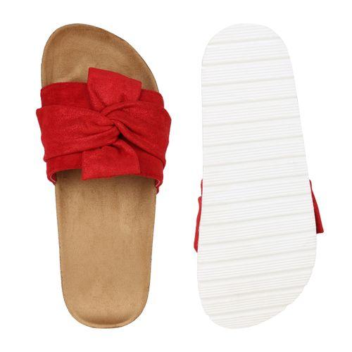 Damen Damen Sandaletten Sandaletten Rot Pantoletten Pantoletten HqSPwfn