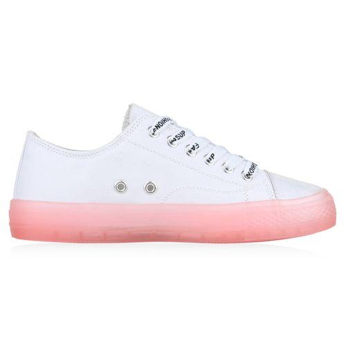 Damen Sneaker Sneaker Rosa Low Damen BYxqSBg