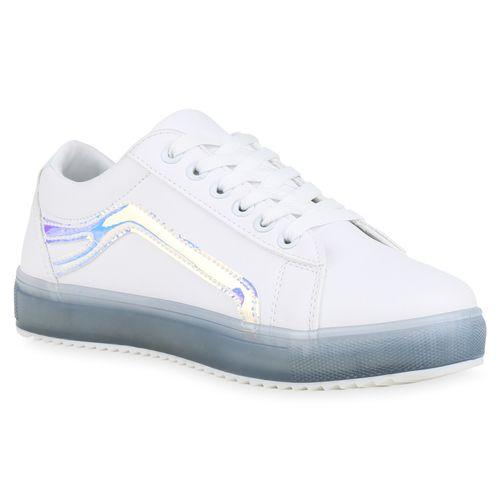 Damen Plateau Blau Damen Sneaker Plateau Weiß gRUFUx
