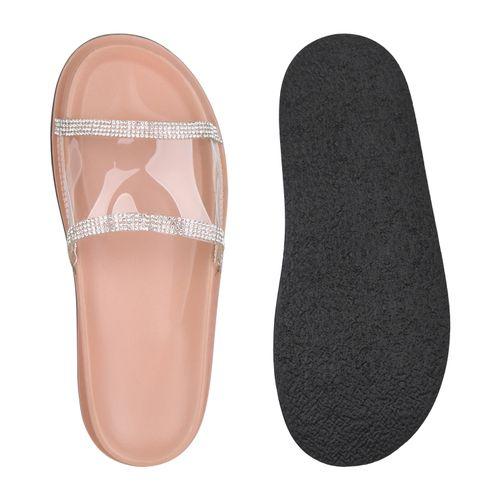 Sandalen Sandalen Damen Rosa Damen Pantoletten v1vw8xFE