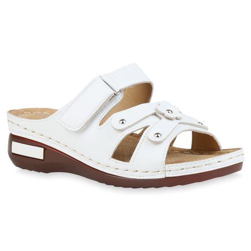 Damen Damen Sandaletten Pantoletten Pantoletten Weiß Sandaletten Weiß Pantoletten Sandaletten Weiß Damen Damen wBO0qA8n
