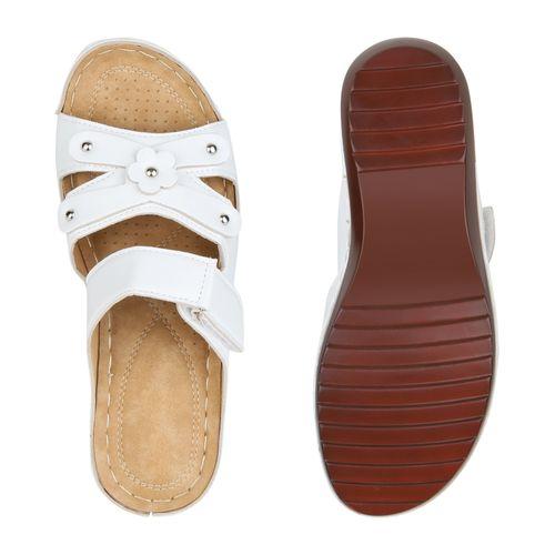 Damen Weiß Pantoletten Pantoletten Pantoletten Sandaletten Damen Weiß Sandaletten Sandaletten Damen Weiß Damen qwf64Spx