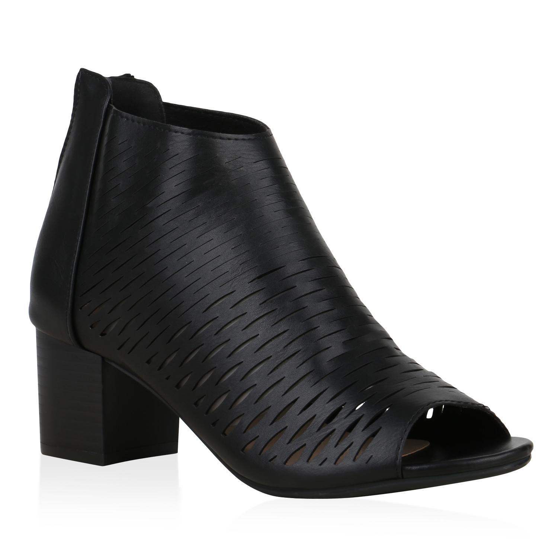 Sandalen - Damen Sandaletten Schaftsandaletten Schwarz › stiefelparadies.de  - Onlineshop Stiefelparadies