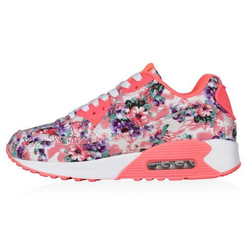 Pink Laufschuhe Muster Neon Sportschuhe Damen qBWn6tpt