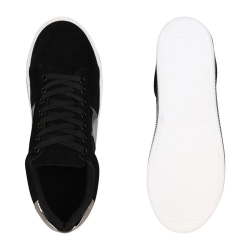 Damen Plateau Sneaker Sneaker Damen Schwarz Damen Plateau Schwarz Plateau qfqwATv