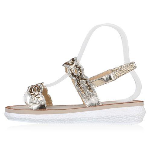 Sandaletten Gold Damen Keilsandaletten Damen Sandaletten Keilsandaletten BxqE4wtBX