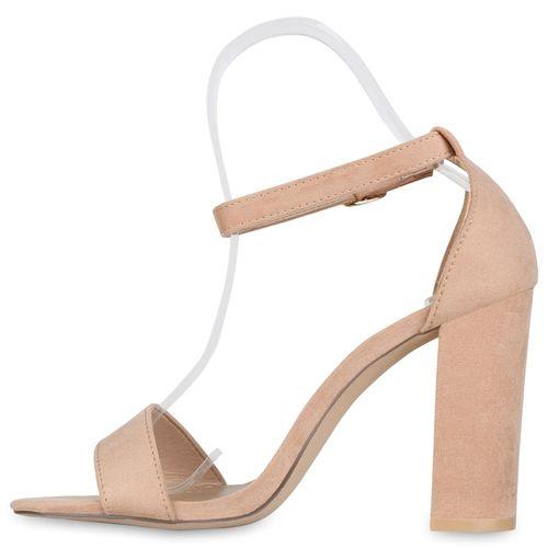 Beige Sandaletten Heels Damen Heels Sandaletten Damen Damen Beige High High RqxzwwHa