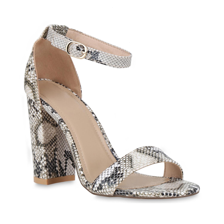 Highheels für Frauen - Damen Sandaletten High Heels Snake  - Onlineshop Stiefelparadies