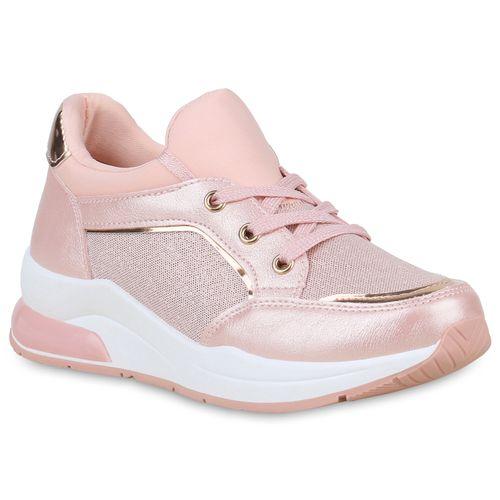 Damen Sneaker Damen Plateau Sneaker Rosa Metallic Damen Rosa Metallic Plateau Xqw0nA1