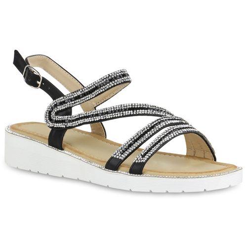 Damen Schwarz Keilsandaletten Damen Sandaletten Sandaletten dXqBdz