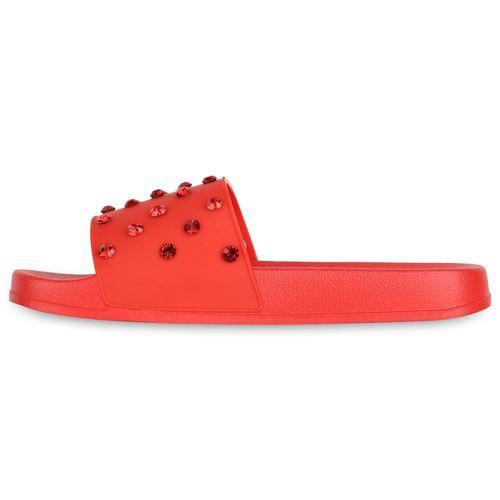 Pantoletten Sandalen Damen Pantoletten Sandalen Rot Rot Damen Damen AqYxSzRw