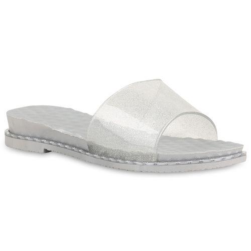 Damen Sandaletten Silber Pantoletten Silber Sandaletten Pantoletten Silber Sandaletten Pantoletten Damen Damen wBYBA0qPv