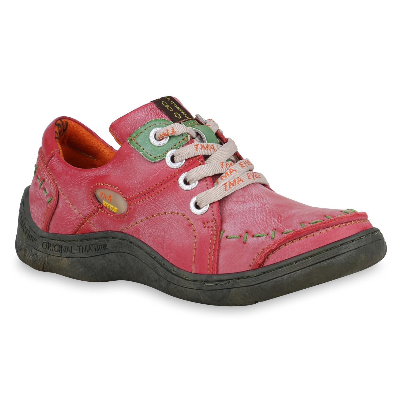 Halbschuhe für Frauen - Damen Klassische Halbschuhe Rot  - Onlineshop Stiefelparadies