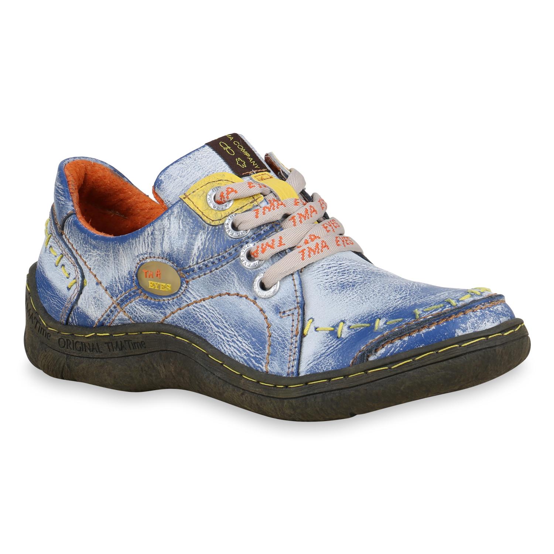 Halbschuhe für Frauen - Damen Klassische Halbschuhe Blau  - Onlineshop Stiefelparadies