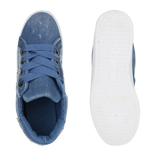 Damen Sneaker Blau Damen Damen Plateau Plateau Sneaker Damen Blau Plateau Blau Sneaker Plateau wWazU
