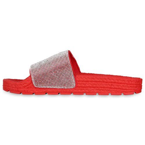 Sandalen Damen Sandalen Damen Sandalen Pantoletten Rot Rot Damen Pantoletten Rot Pantoletten dxw10qB7P0