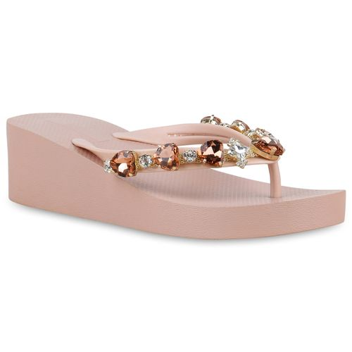 Rosa Damen Damen Sandaletten Zehentrenner Sandaletten Xxq6zp6IOw