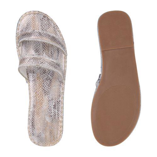 Damen Sandalen Sandalen Sandalen Silber Pantoletten Silber Damen Pantoletten Damen Pantoletten Silber rAxwf8r