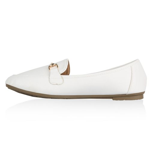 Damen Slippers Loafers - Weiß