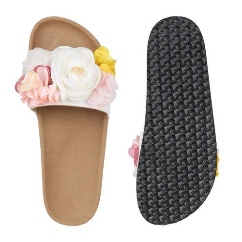 Sandalen Pantoletten Weiß Damen Damen Sandalen OqzEOt