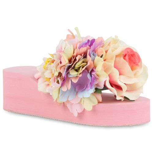 Rosa Sandaletten Sandaletten Damen Damen Zehentrenner Damen Rosa Zehentrenner Sandaletten nUqA8Ynw