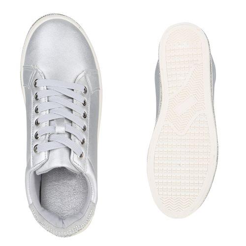 Damen Damen Damen Low Sneaker Silber Sneaker Silber Low qRBnwxrqzF