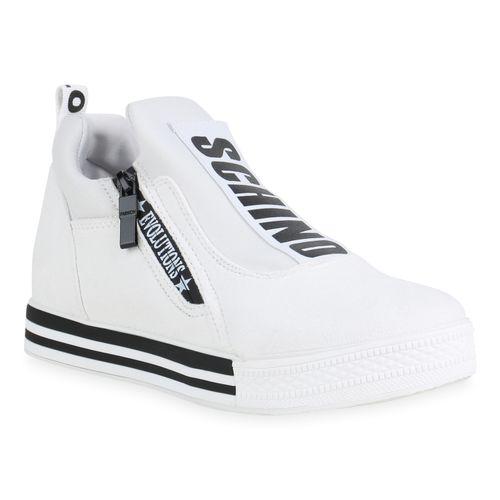 Sneaker Sneaker Damen Damen Weiß Damen Weiß Plateau Plateau Plateau vqdw5q0