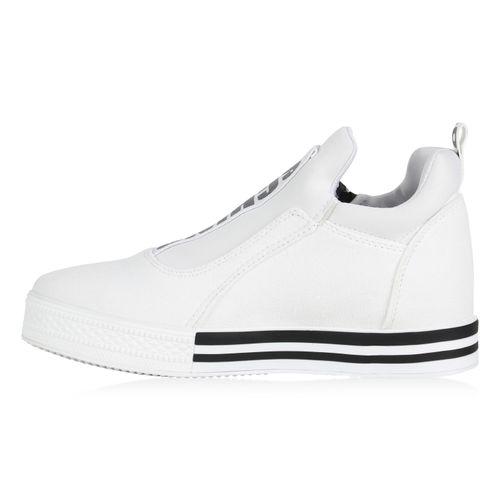 Damen Damen Plateau Sneaker Plateau Plateau Damen Weiß Sneaker Weiß wrZvwq