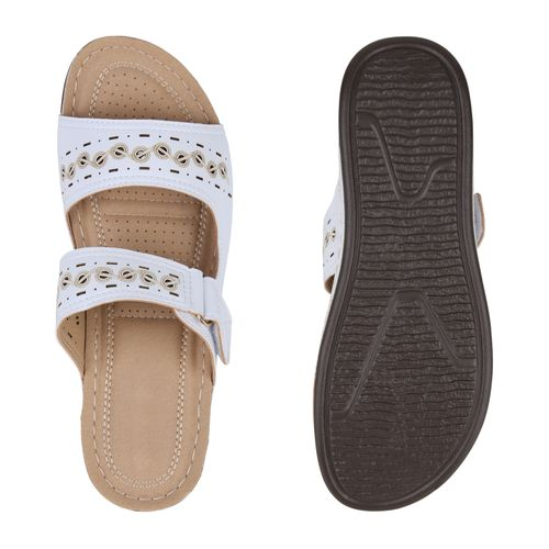 Weiß Pantoletten Sandaletten Damen Damen Sandaletten Pantoletten OypUzqqB