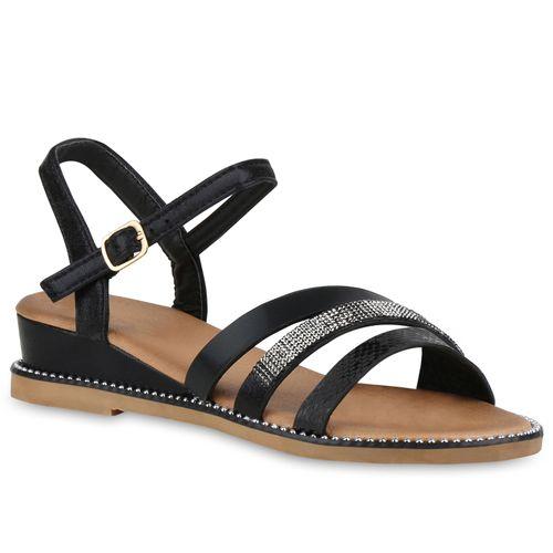 Damen Damen Sandaletten Schwarz Schwarz Sandaletten Keilsandaletten Sandaletten Keilsandaletten Damen Ic4q5AA